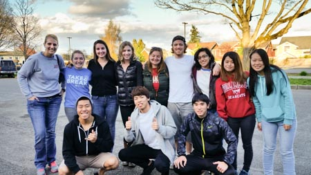 Willamette University visits Meadowbrook