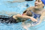 Meadowbrook Pool Coordinator Janet Wilson instructing student at Pool