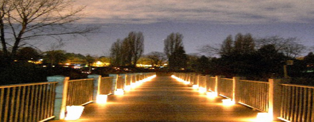 Meadowbrook's Luminary Walk at the Pond