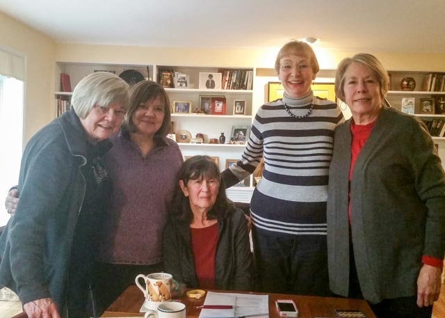 (L-R) Dody F., Yolanda H., Sue W., Karen A. and Kathy C. help make up the steering committee for the Lake City After School Project at Olympic Hills Elementary.