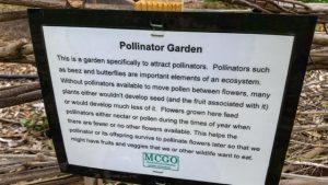Signage at the Orchard explaining benefits