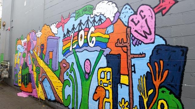 Lake City Teen Mural POPS!